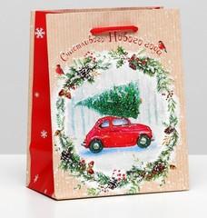 Пакет подарочный «Счастливого Нового Года», 12х15х7см