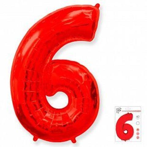 Цифра шесть- красная