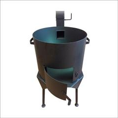 Печь с дымоходом для казана 22л усиленная