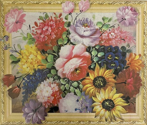 Алмазная Мозаика 5D 40x50 Красочный букет (арт.LT0497)