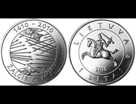 """1 лит """"600 лет Грюнвальдской битве"""" 2010 год"""
