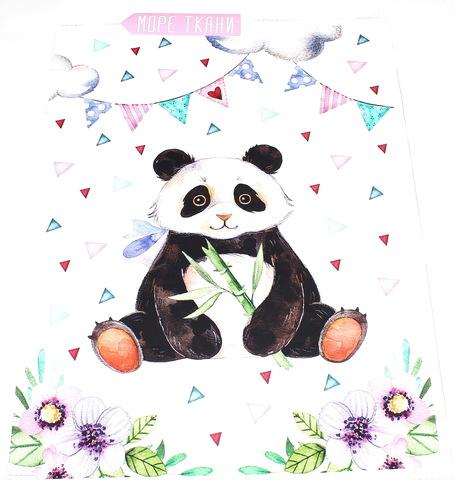 Панель(купон) панда, мята-75*100 см.