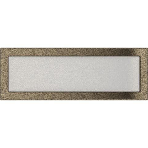 Вентиляционная решетка Черная/Золото (17*49) 49CZ