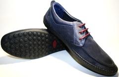 Мокасины мужские на шнурках Luciano Bellini 32011-00