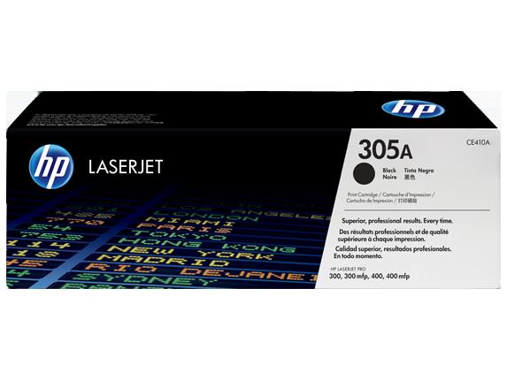 Картридж лазерный цветной original 305A CE410A черный (black), до 2200 стр.