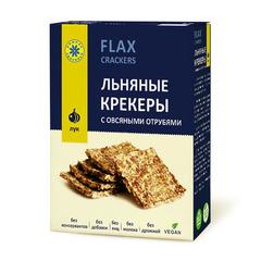 Крекер льняной, Компас Здоровья, с овсяными отрубями и луком, 150 г