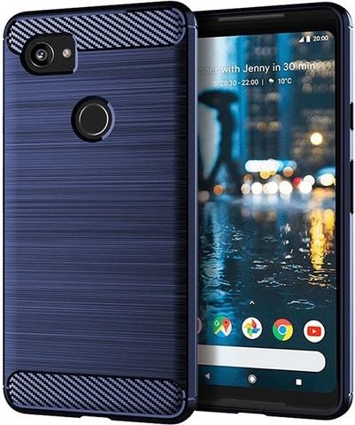 Чехол на Google Pixel2 XL цвет Blue (синий), серия Carbon от Caseport