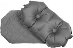 Надувная подушка Klymit Pillow Luxe Grey, серая
