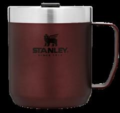 Термокружка с ручкой Stanley Classic 0.35L Бордовая