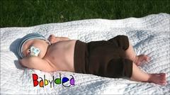 Пеленальные штанишки короткие Babyidea Wool Shorties, Коричневый (шерсть мериноса 100%)