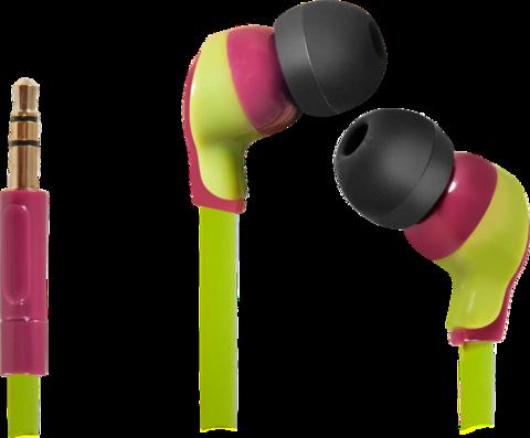 Наушники DEFENDER Juicy MPH-812 вишневый и зеленый
