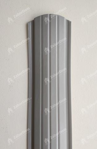 Евроштакетник металлический 110 мм RAL 7004 полукруглый 0.5 мм