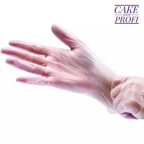 Перчатки виниловые размер S (1пара)