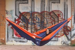 Большой гамак Ticket to the Moon King Size Hammock Royal Blue/Orange - 2