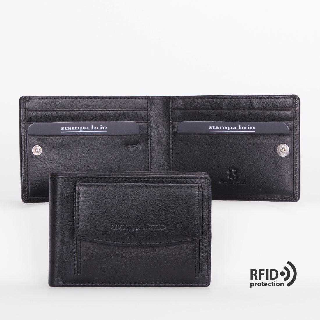 674 R - Портмоне компактное с монетником снаружи и RFID защитой