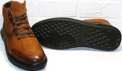 светло-коричневые модные зимние ботинки мужские