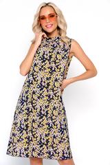 <p><span>Начни лето красиво! Струящееся платье из легкого креп-шифона. Ворот стойка с бантом. По переду драпировка.&nbsp;</span><span>(Длины: 44-93см; 46-94см; 48-96см; 50-97см; 52-98см)</span></p>