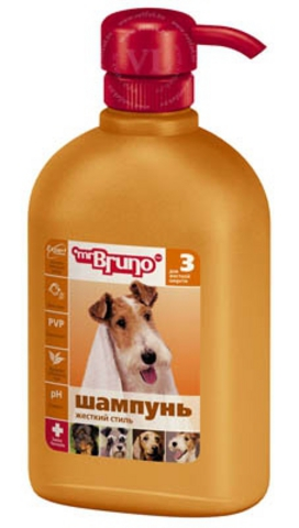 """М.Бруно Шампунь №3 """"Жесткий стиль"""" для жесткой шерсти 350мл 1*6"""