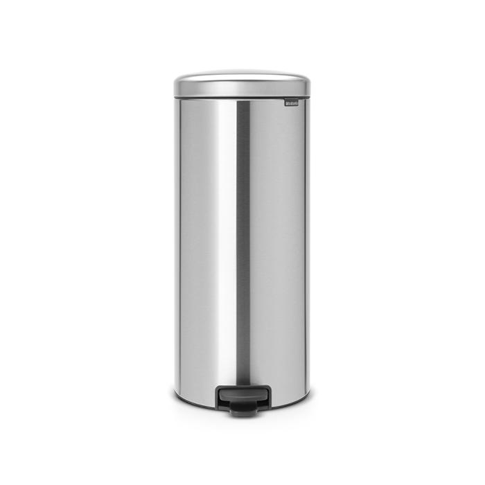 Мусорный бак newicon (30 л), Стальной матовый, арт. 114380 - фото 1