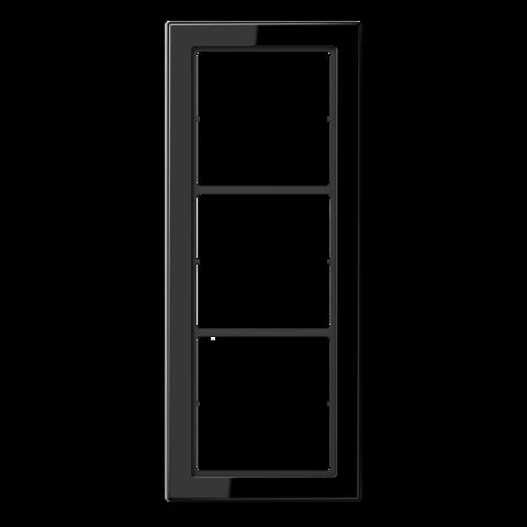 Рамка на 3 поста. Цвет Чёрный. JUNG FD - ДИЗАЙН. FD983SW