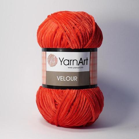 Пряжа Ярнарт ВЕЛЮР цвет 846 красный