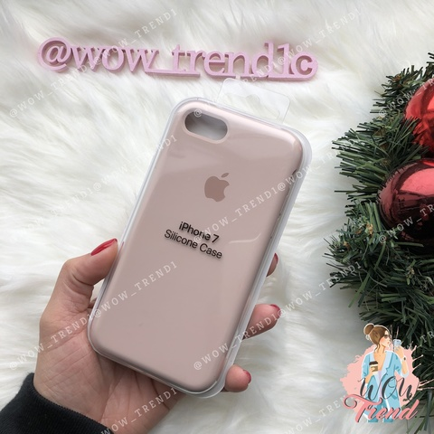 Чехол iPhone 7/8 Silicone Case /pink sand/ розовый песок original quality