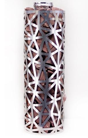 Сетка-каменка №2 (Лед) — d-350 — h-1000 мм — нерж 1,5 мм AISI 430
