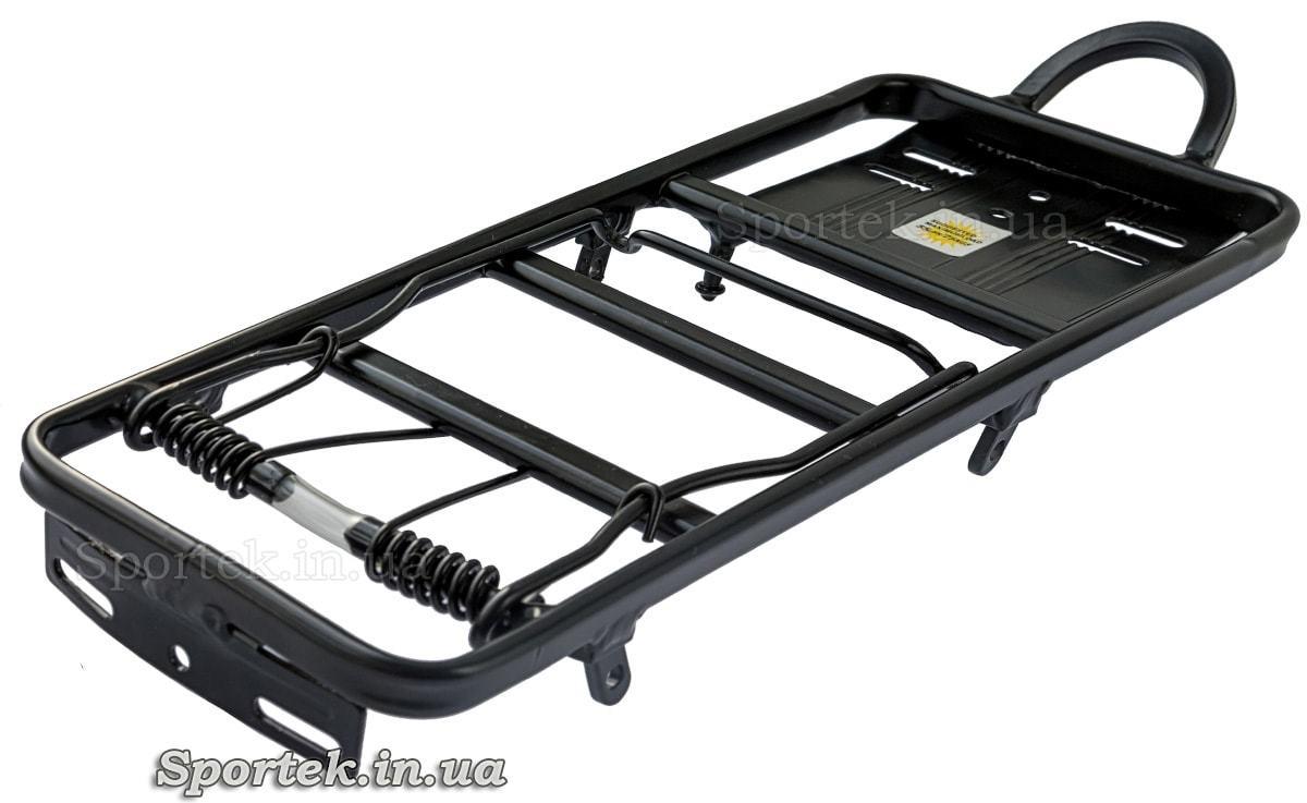 Багажник алюминиевый черный с пружиной (35 х 12.5 см)