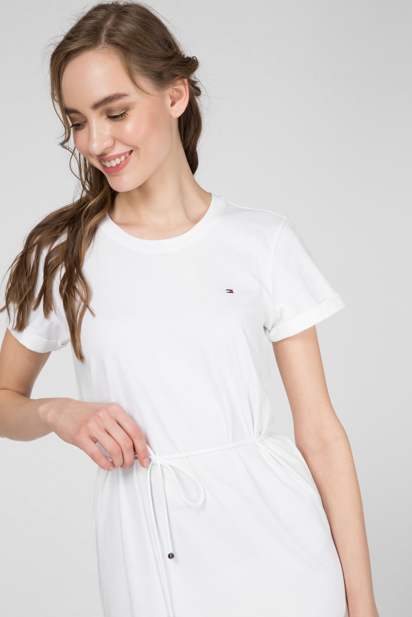 Женское белое платье ANGELA REGULAR C-NK Tommy Hilfiger