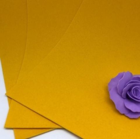 Фоамиран бархатный. Цвет: Апельсиновый 002