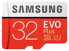 Карта памяти Samsung EVO Plus 32GB + SD adapter microSDHC Class 10 UHS-I
