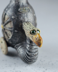 Скульптура из шамотной глины «Геликоптер», 13х7х17 см, Falco Ceramic