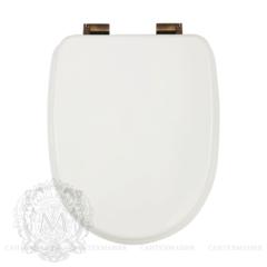 Сиденье для унитаза Migliore Gianeta ML.GNT-26.810.LB.BR с микролифтом, цвет: белый/бронза