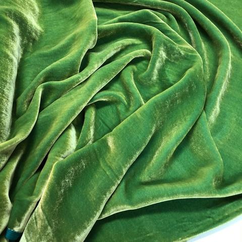 Бархат шелк-вискоза липовый лист