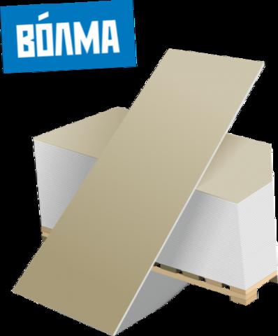 ГКЛ Волма, 9,5 мм, Гипсокартонный лист обычный 1200х2500х9,5 мм