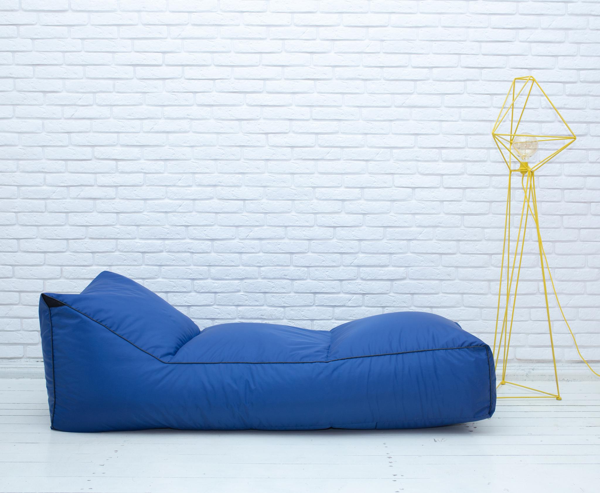 Шезлонг плащёвка (синий)