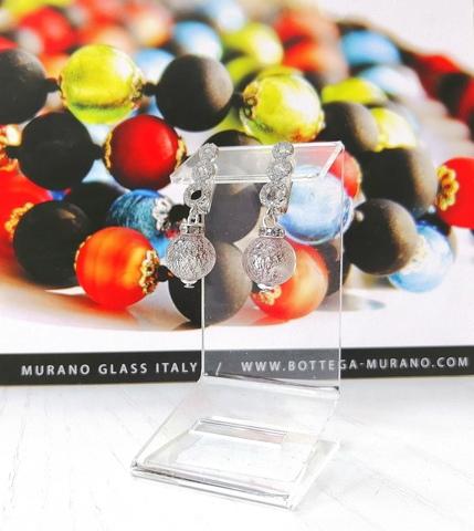 Серьги из муранского стекла со стразами Sandra Ca'D'oro Light Amethyst 040OB