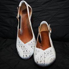 Красивые туфли босоножки Marani Magli 031 405 White.