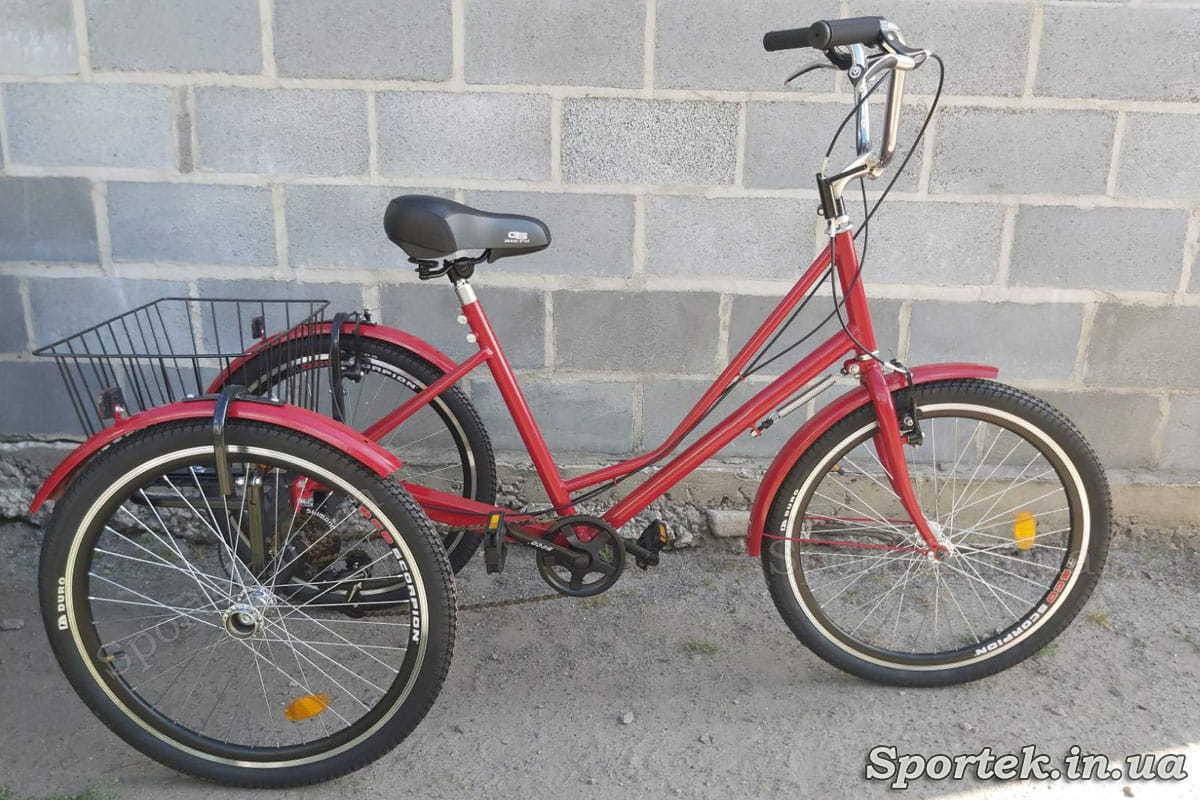Трехколесный велосипед 'Городской с корзинкой 24' (красный)