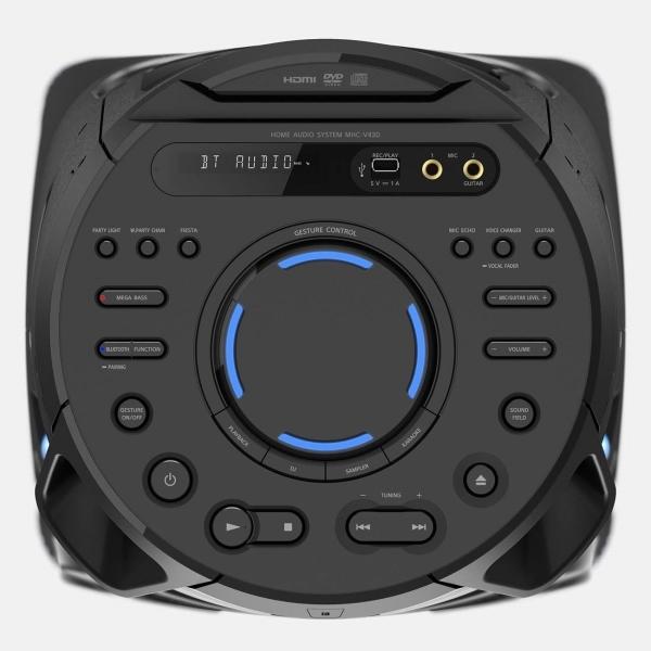 Панель управления аудиосистемой Sony MHC-V43D