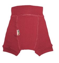 Пеленальные штанишки короткие Babyidea Wool Shorties, Бордовый (шерсть мериноса 100%)