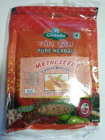 Семена пажитника (фенугрек), 100 г Chanda (Индия)