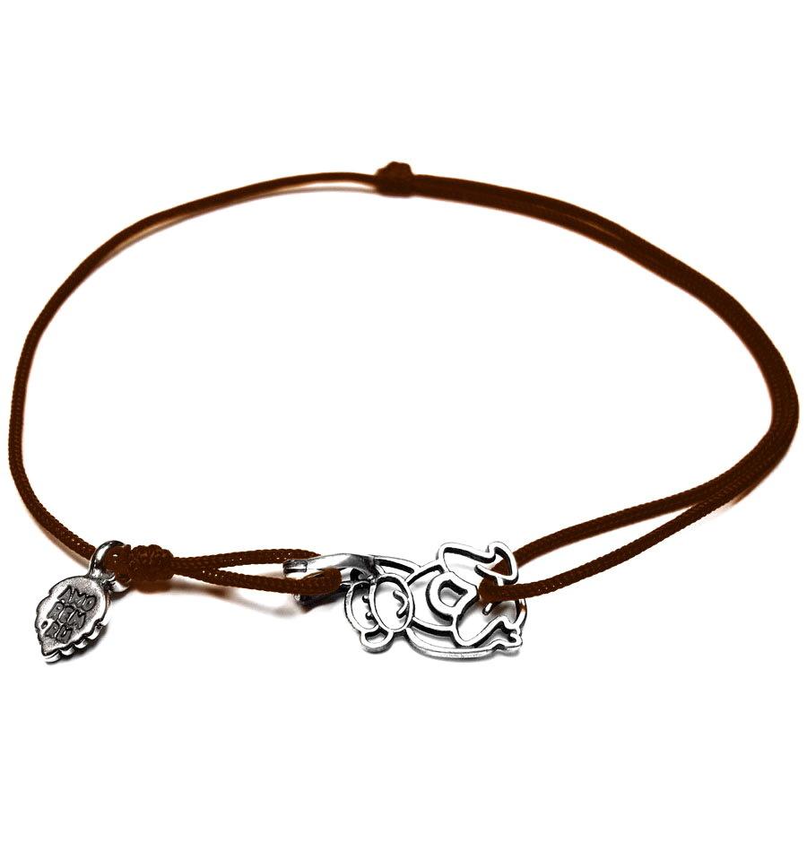 Monkey bracelet, sterling silver