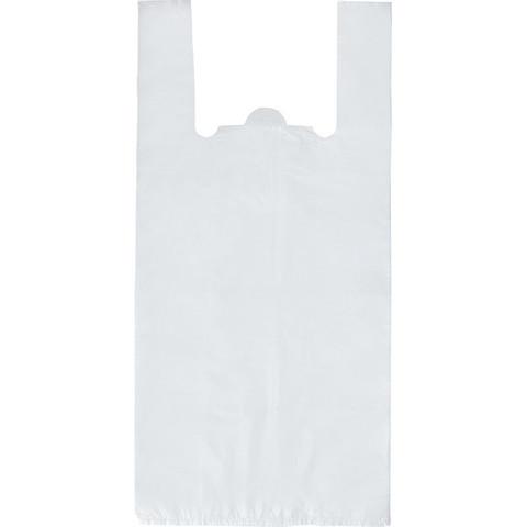 Пакет-майка Знак Качества ПНД прозрачный 15 мкм (28+13x57 см, 100 штук в упаковке)
