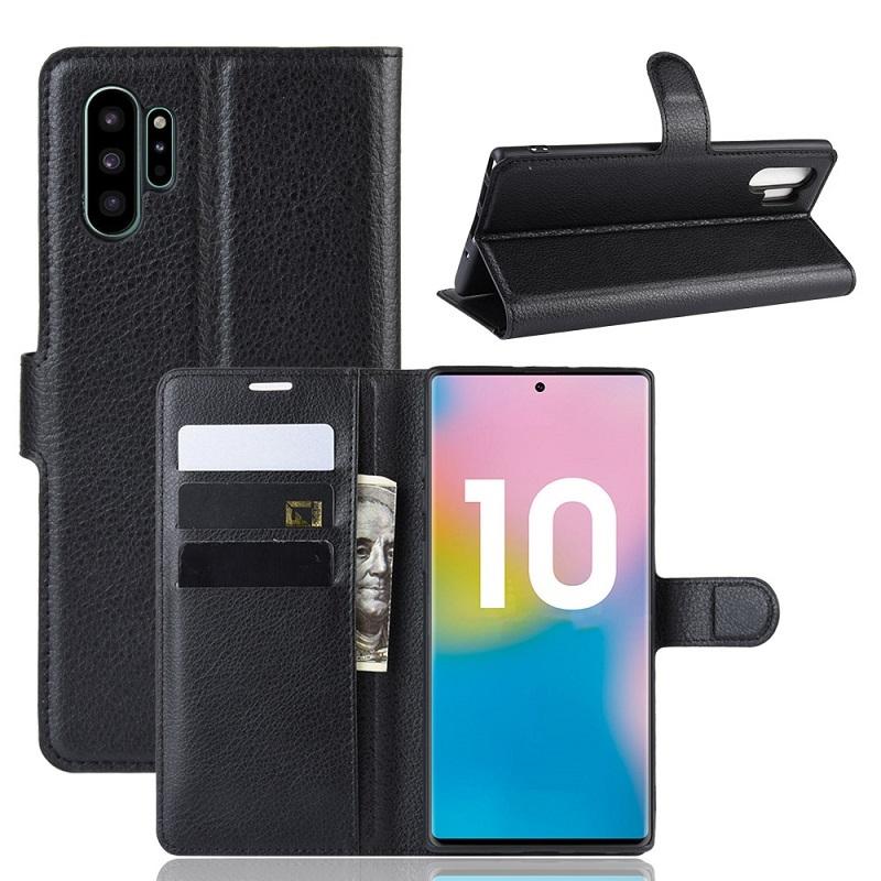 Чехол книжка на Samsung Galaxy Note 10 плюс, с отсеком для карт и подставкой от Caseport