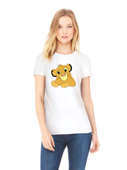 Футболка с принтом мультфильма Король лев (The Lion King, Симба) белая w004