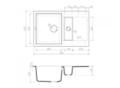 Схема Omoikiri Sakaime 78-2-CH