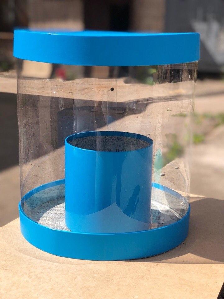 Коробка аквариум 32см Цвет :Ярко голубой. Розница  700 рублей .