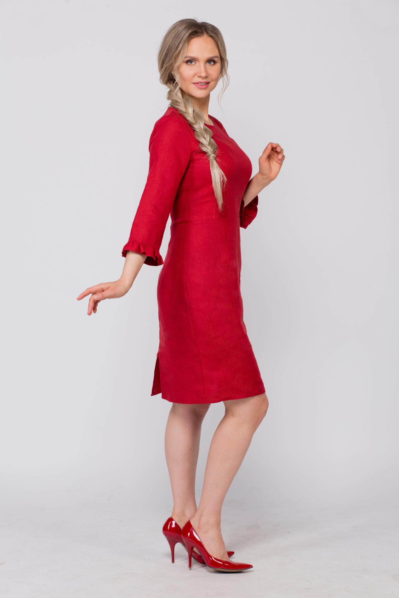 Платье льняное Свидание вид сбоку