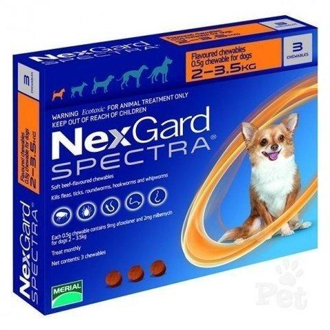 НексгарД Спектра таблетки жевательные для собак 2-3,5 кг , 1 таблетка